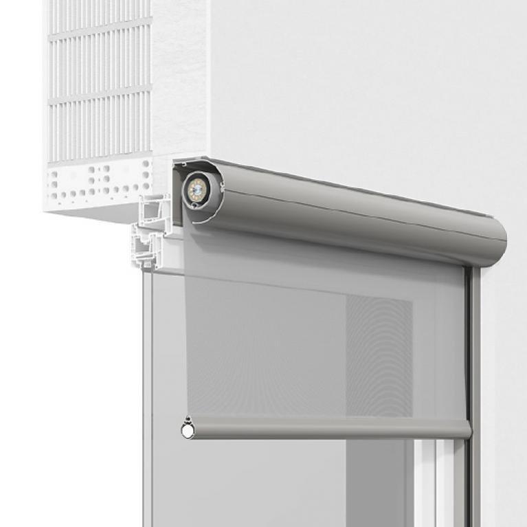 Systemquerschnitt ROMA Vorbautextilscreen Rollscreen 2